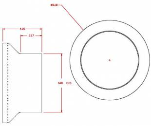 "Inlet Fitting - 6"" diameter tube"