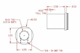 Inlet Fitting - R1/2 = 1/2-14 BSPT female