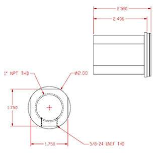 "Inlet Fitting - 1"" NPT female"