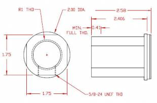 Inlet Fitting - R1 = 1-11 BSPT female