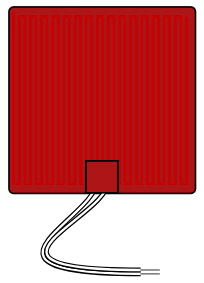 Flexible Silicone Heater 12V rectangle 250mm image