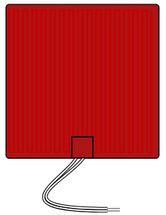 Flexible Silicone Heater 12V rectangle 300mm image