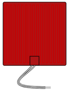 Flexible Silicone Heater 12V rectangle 310mm image