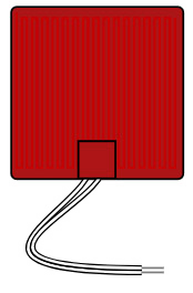 Flexible Silicone Heater 12V rectangle 8in image